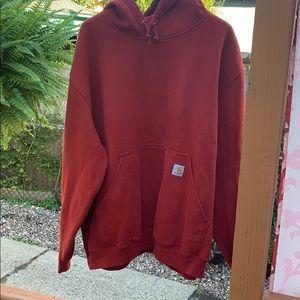 Carhartt men red hoodie